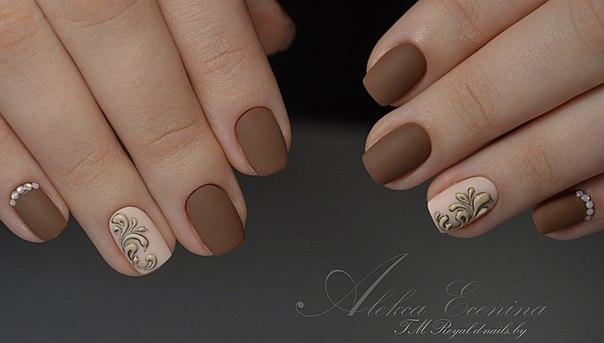 Дизайн ногтей. Рисуем золотые, серебряные ВЕНЗЕЛЯ с ГЕЛЬ