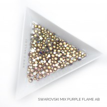 Стразы Swarovski PURPLE FLAME AB MIX 144 шт (микс размеры)