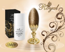 Гель лак ROYAL GOLD SAND 10ml №01
