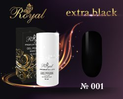 Гель-лак ROYAL 10 ml №001 extra black