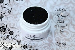 Цветной гель Royal Black Diamond Line 5 ml №02