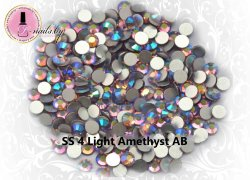 Стразы ss4 Light Amethyst AB 1.5-1.7mm 100шт