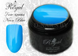 Гель-краска Royal Premium Line Neon Blue 5 ml