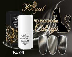 Гель-лак ROYAL 10 ml PANDORA 7D CAT EYE №06