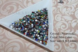 Стразы ss6 MIX color 1.9-2.1mm 100шт