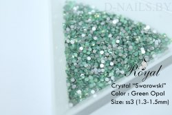 Стразы ss3 Green Opal 1.3-1.5mm 100шт