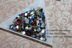 Стразы ss16 MIX color 3.8-4mm 100шт